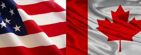 Drapeaux USA/Canada